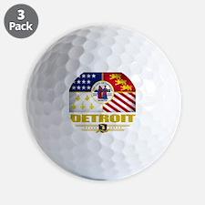 Detroit (Flag 10) Golf Ball