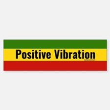 Rasta Gear Shop Positive Vibration Bumper Car Car Sticker