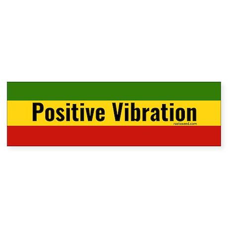 Rasta Gear Shop Positive Vibration Bumper Sticker