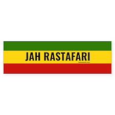 Rasta Gear Shop Jah Rastafari Bumper Car Sticker
