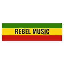 Rasta Rebel Music Bumper Car Sticker