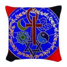 lg Unity Symbol 3 Woven Throw Pillow
