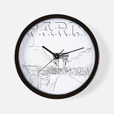 Paris_10x10_apparel_ChampsElysees_Black Wall Clock