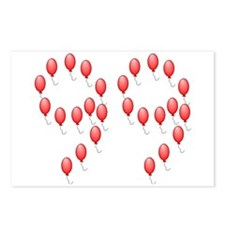 99 Red Balloons Postcards (Package of 8)