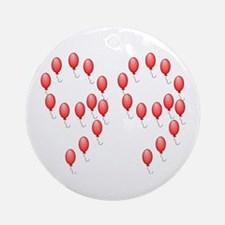 99 Red Balloons Ornament (Round)