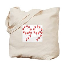 99 Red Balloons Tote Bag
