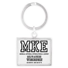 AIRPORT CODES - MKE - GENERAL W Landscape Keychain