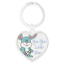 Yia-Yia Little Bunny Heart Keychain
