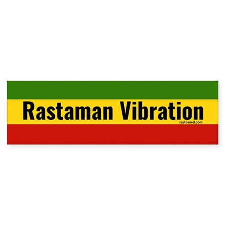 Rasta Gear Shop Rastaman Vibration Bumper Sticker