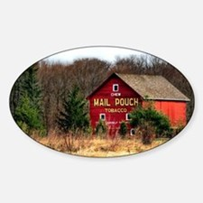 mail pouch barn (2) Sticker (Oval)