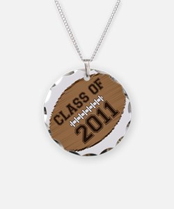 class of 2011 football Necklace Circle Charm