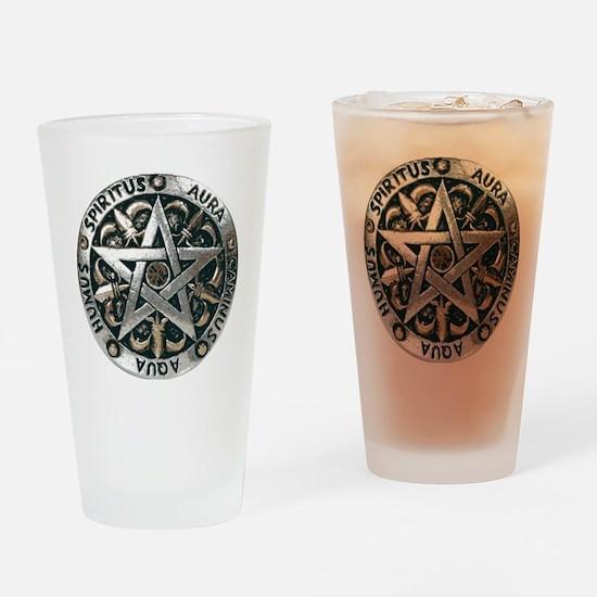 wiccan pentagram 2 Drinking Glass