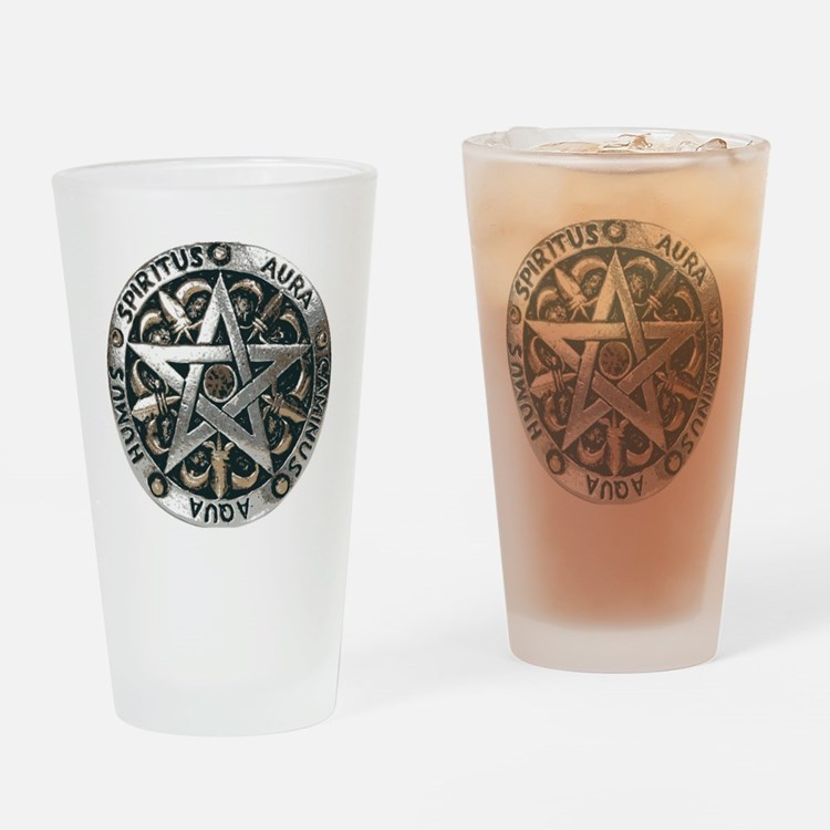 wiccan pentagram 2 Drinking Glass
