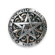 "wiccan pentagram 2 3.5"" Button"