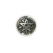 wiccan pentagram 2 Mini Button