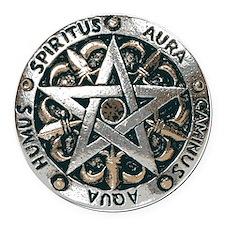 wiccan pentagram 2 Round Car Magnet