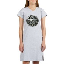 wiccan pentagram 2 Women's Nightshirt