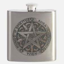 wiccan pentagram 2 Flask