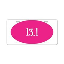 13.1 pink white sticker Aluminum License Plate