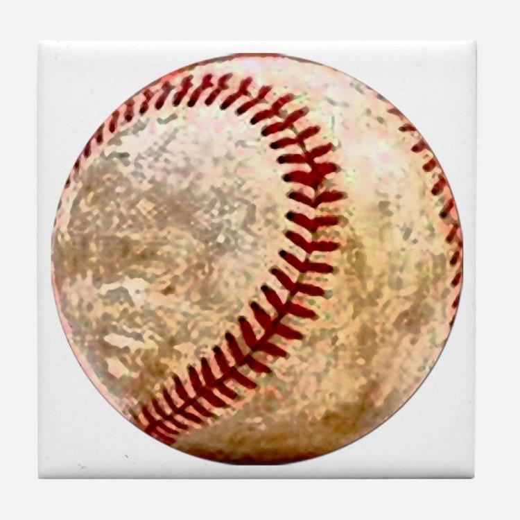 baseball_ball Tile Coaster