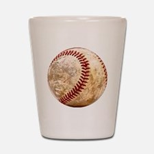 baseball_ball Shot Glass