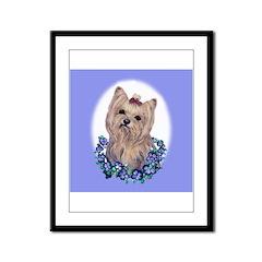 Yorkshire Terrier Miss Priss Framed Panel Print