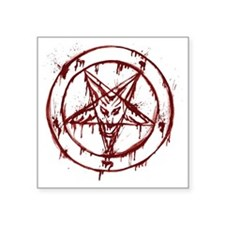 "slayer pentagram Square Sticker 3"" x 3"""