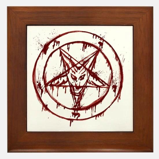 slayer pentagram Framed Tile