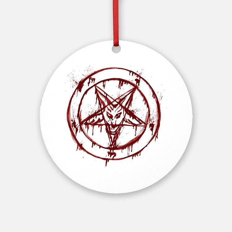 slayer pentagram Round Ornament