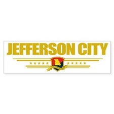 Jefferosn City (Flag 10) pocket Bumper Sticker