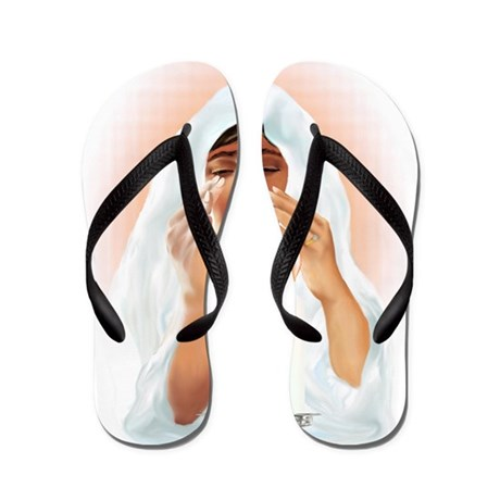 Passover Prayer Letttered Trans Flip Flops