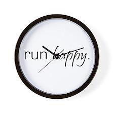Run Happy Wall Clock