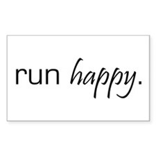 Run Happy Rectangle Decal