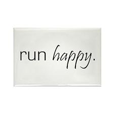 Run Happy Rectangle Magnet