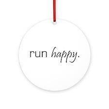 Run Happy Ornament (Round)
