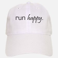 Run Happy Baseball Baseball Cap