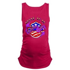 blk_Proud_To_Be_American_Shield Maternity Tank Top