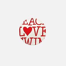 peace love swim red Mini Button