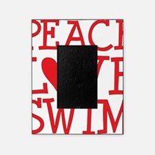 peace love swim red Picture Frame