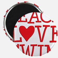 peace love swim red Magnet