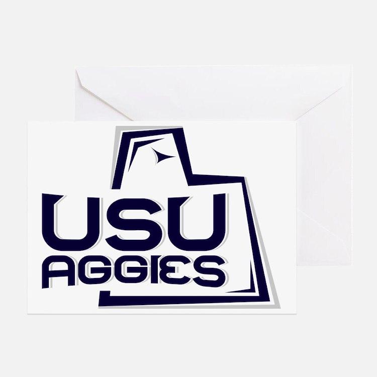 USUWhiteBack Greeting Card