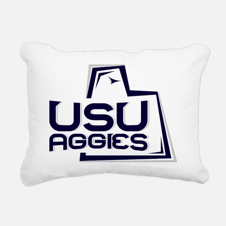 USUWhiteBack Rectangular Canvas Pillow