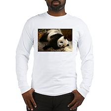 Tai Shan Resting on Log Long Sleeve T-Shirt