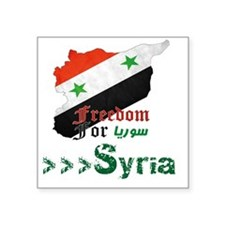 "Freedom for syria Square Sticker 3"" x 3"""