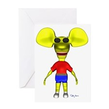 3D_ratboysunglasses_sig Greeting Card