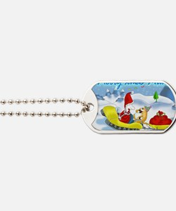 xmas sledge,mum Dog Tags