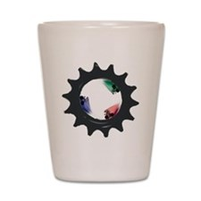 fixie6_dark Shot Glass