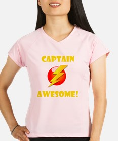 Captain Awesome Yellow Performance Dry T-Shirt