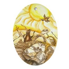 easter_sunbird Oval Ornament