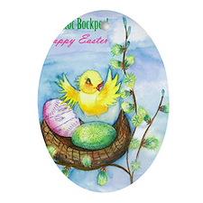 easter_yellowbird_bi Oval Ornament